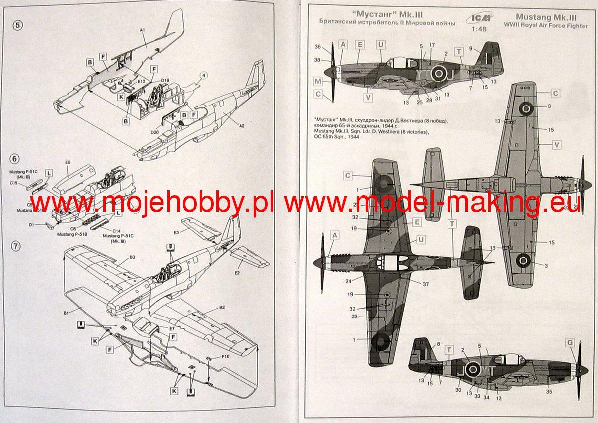 Mustang Mk Viii Wwii Raf Fighter Icm 48123